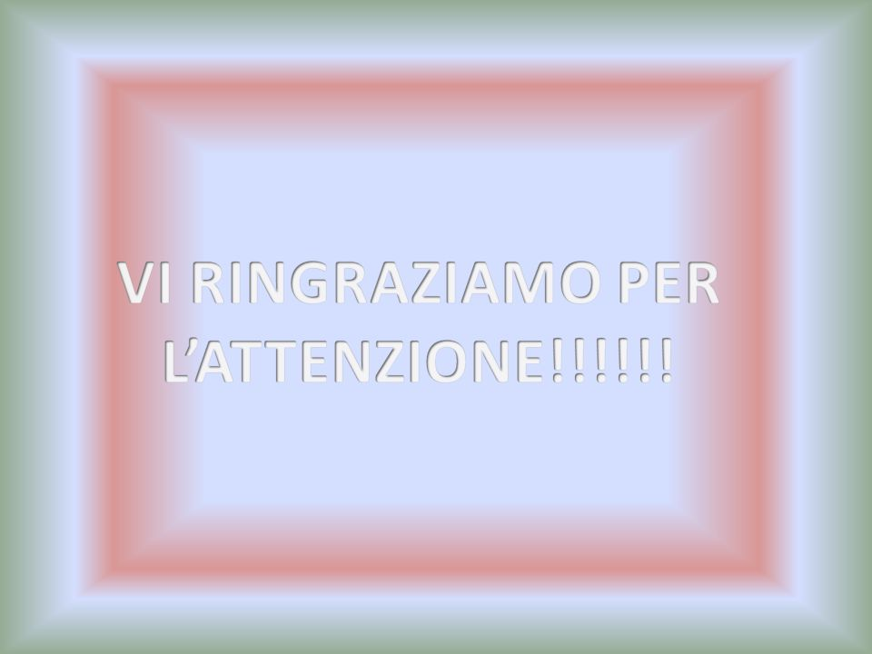 VI RINGRAZIAMO PER L'ATTENZIONE!!!!!!