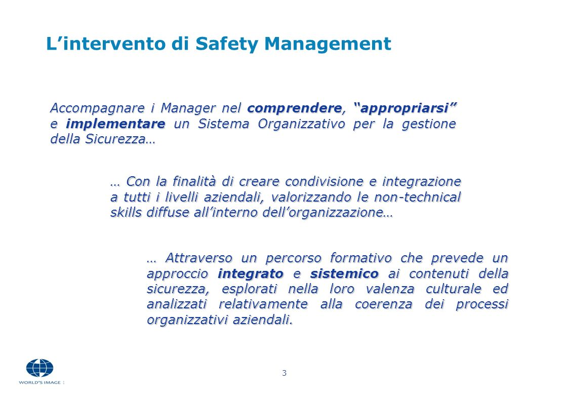 L'intervento di Safety Management