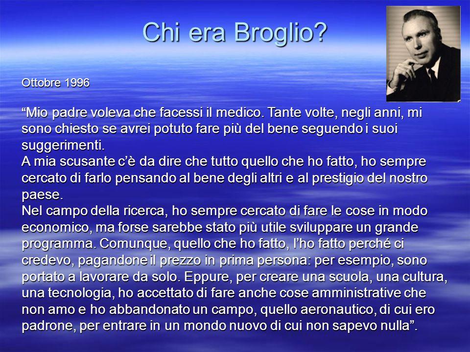 Chi era Broglio Ottobre 1996.