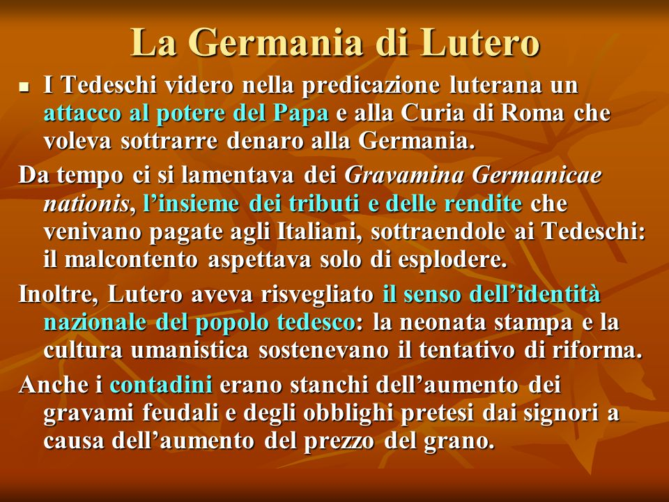 La Germania di Lutero