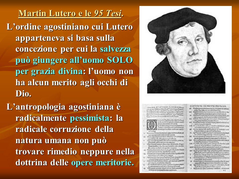 Martin Lutero e le 95 Tesi.