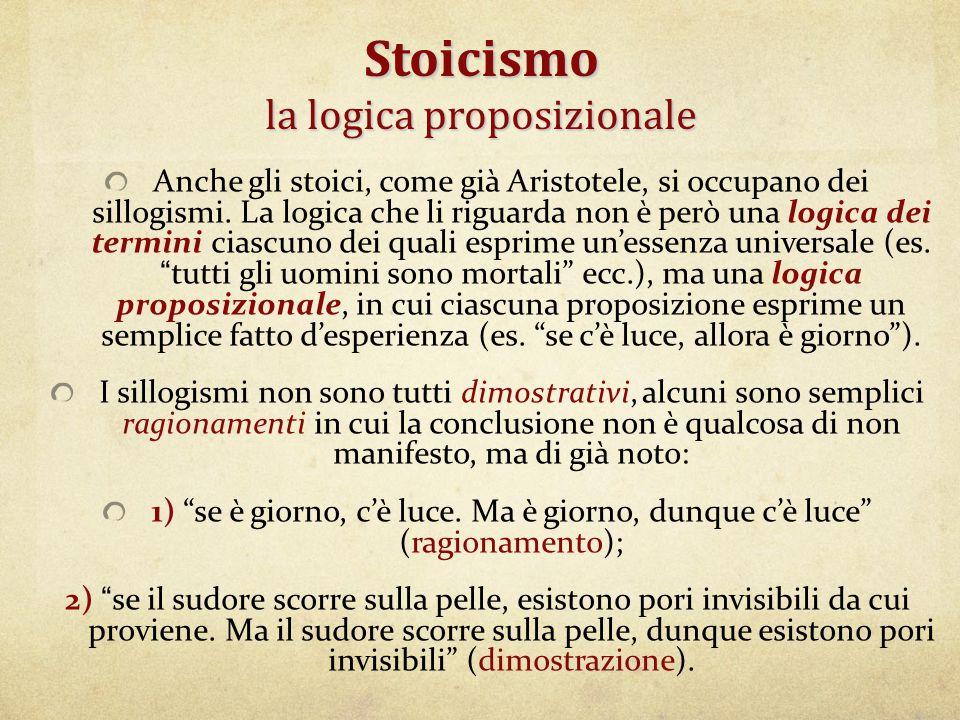 Stoicismo la logica proposizionale