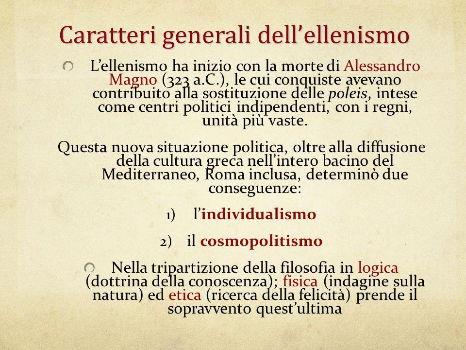Caratteri generali dell'ellenismo
