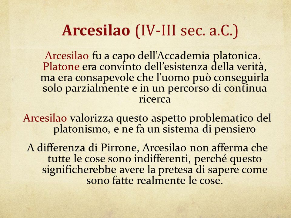 Arcesilao (IV-III sec. a.C.)
