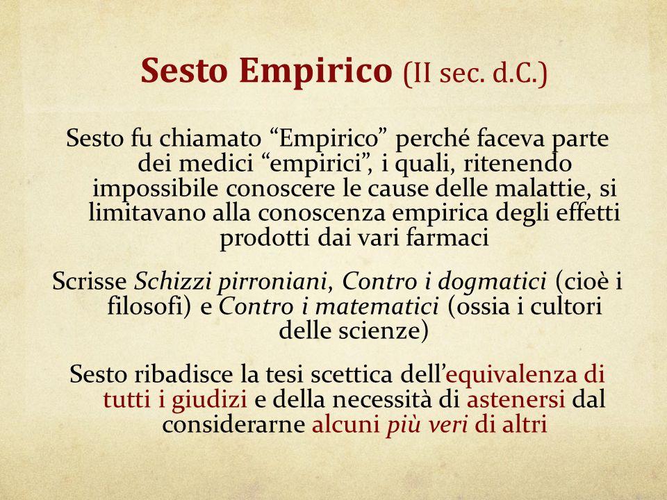 Sesto Empirico (II sec. d.C.)