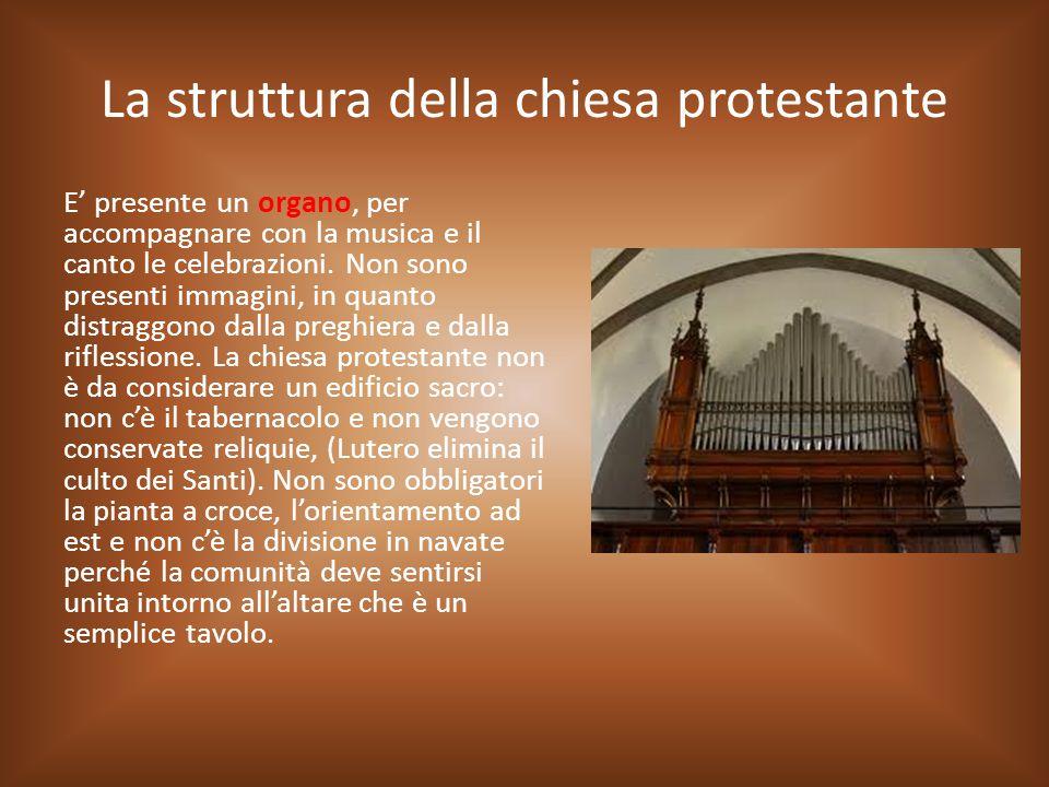 La struttura della chiesa protestante