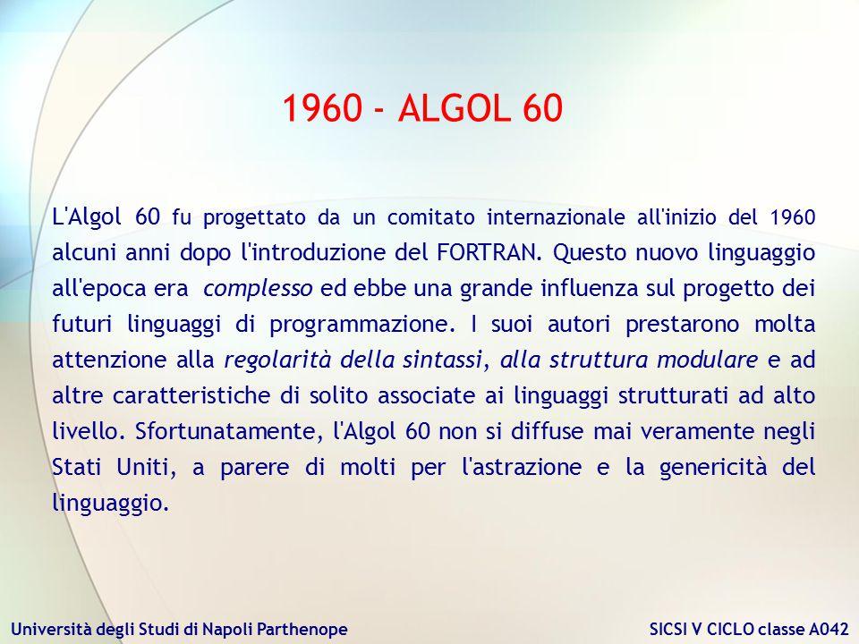 1960 - ALGOL 60
