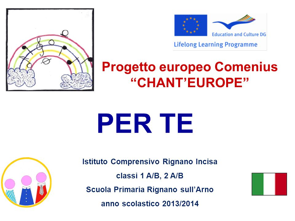 Progetto europeo Comenius CHANT'EUROPE