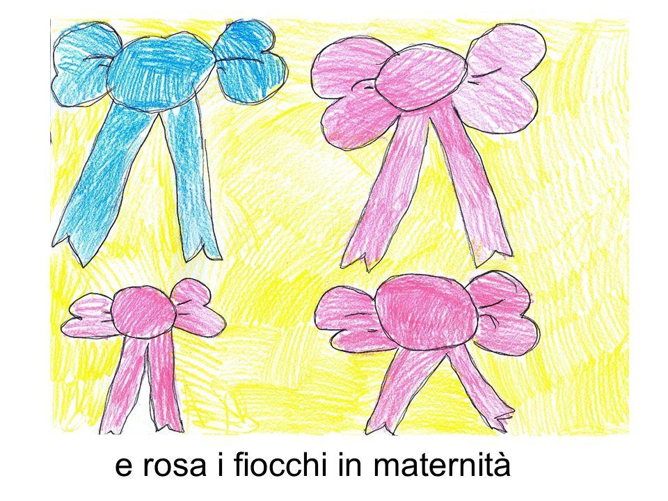 e rosa i fiocchi in maternità