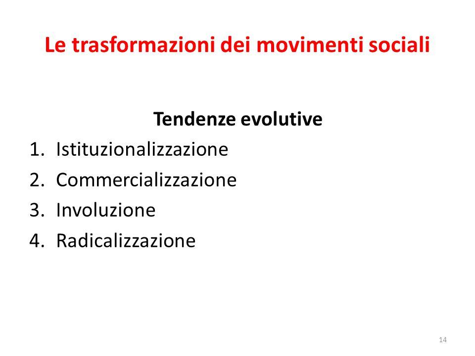 Le trasformazioni dei movimenti sociali