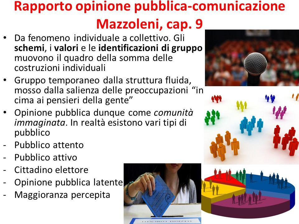 Rapporto opinione pubblica-comunicazione Mazzoleni, cap. 9