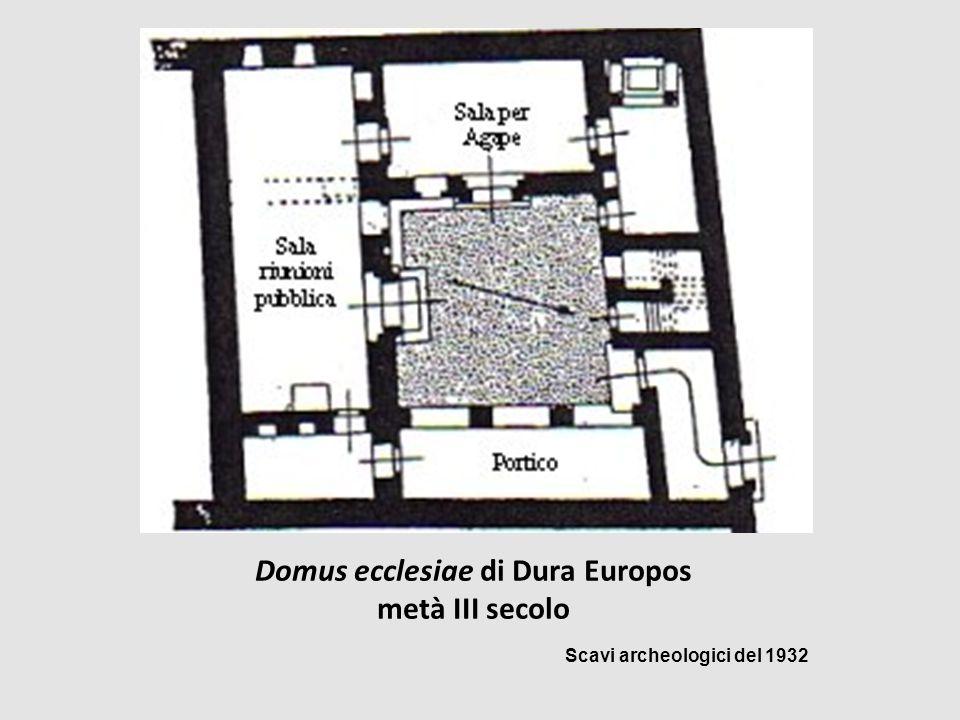 Domus ecclesiae di Dura Europos metà III secolo