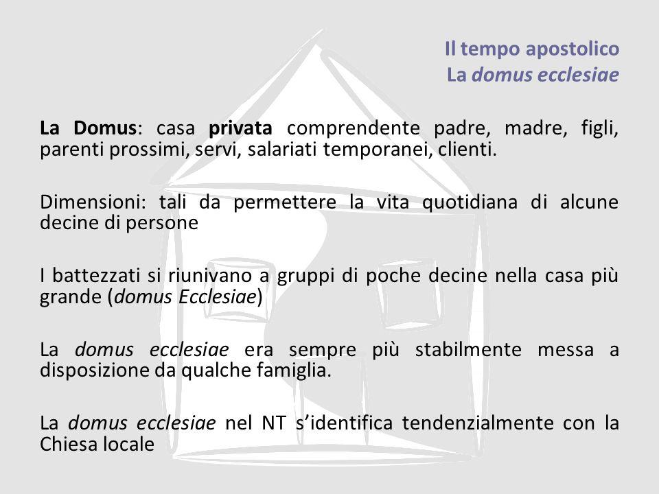 Il tempo apostolico La domus ecclesiae