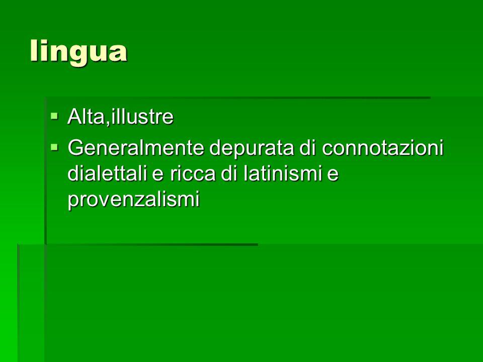lingua Alta,illustre.