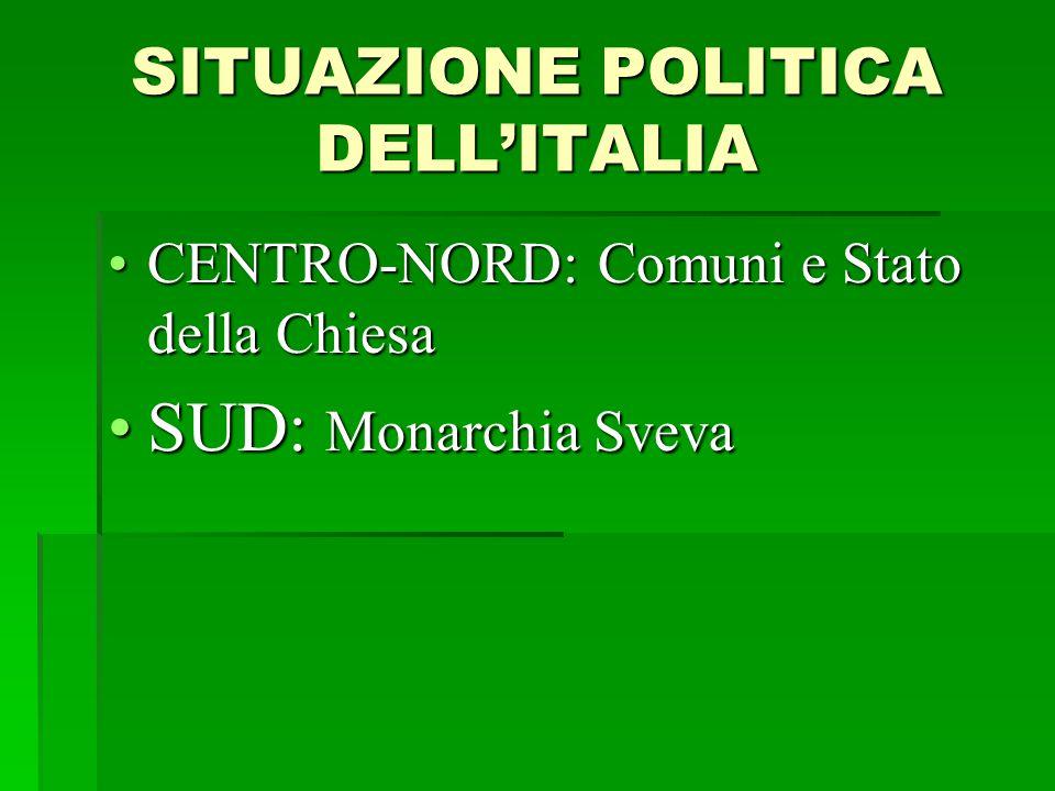 SITUAZIONE POLITICA DELL'ITALIA