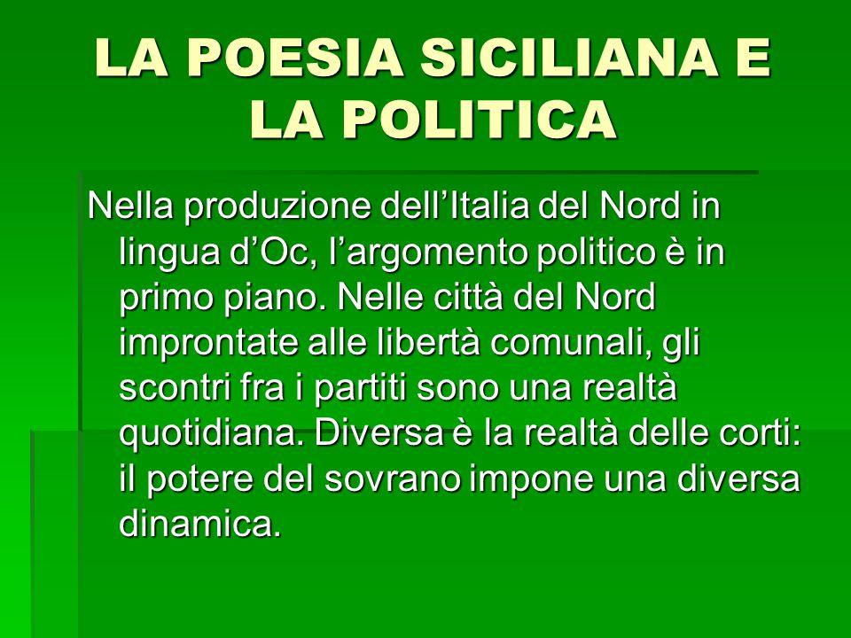 LA POESIA SICILIANA E LA POLITICA