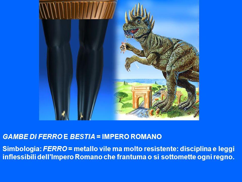 GAMBE DI FERRO E BESTIA = IMPERO ROMANO