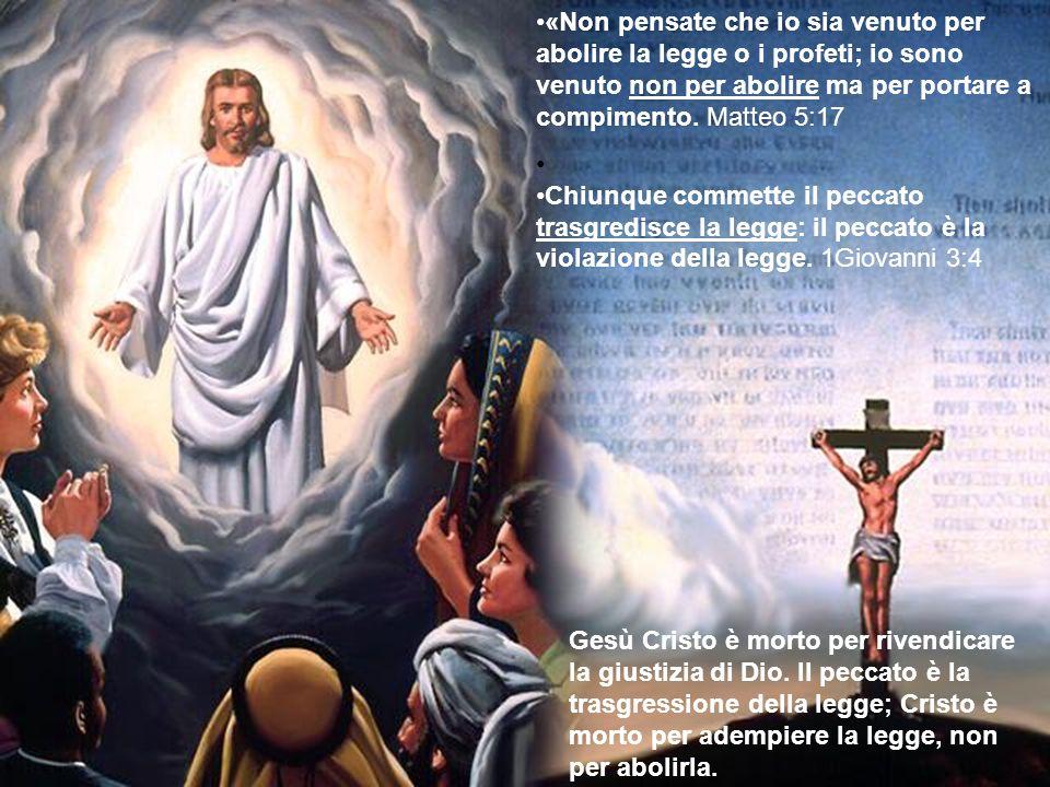 «Non pensate che io sia venuto per abolire la legge o i profeti; io sono venuto non per abolire ma per portare a compimento. Matteo 5:17