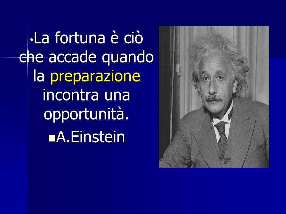 La fortuna è ciò che accade quando la preparazione incontra una opportunità.