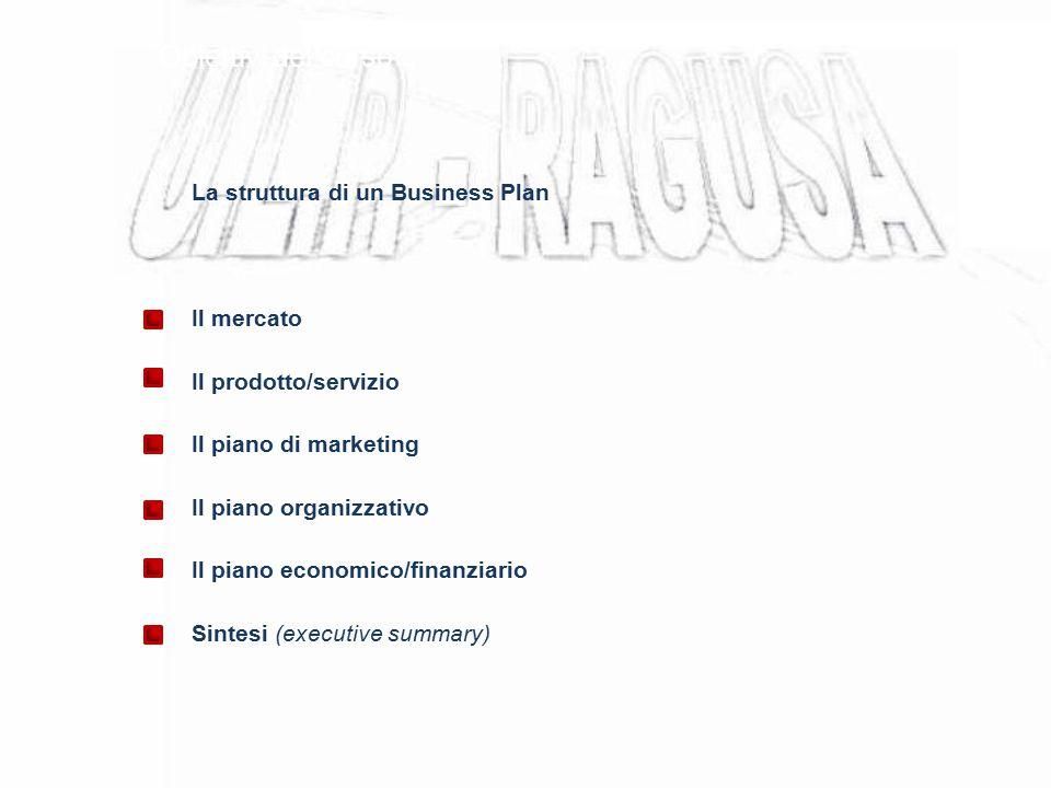 Obiettivi del corso La struttura di un Business Plan Il mercato