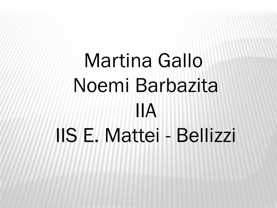 Martina Gallo Noemi Barbazita IIA IIS E. Mattei - Bellizzi