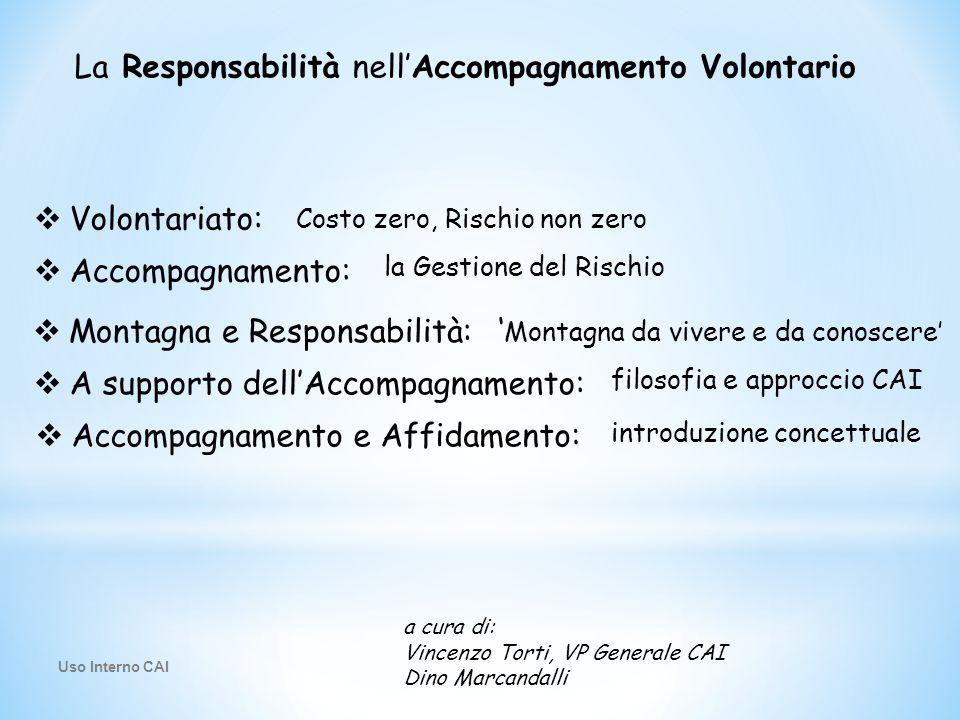 La Responsabilità nell'Accompagnamento Volontario