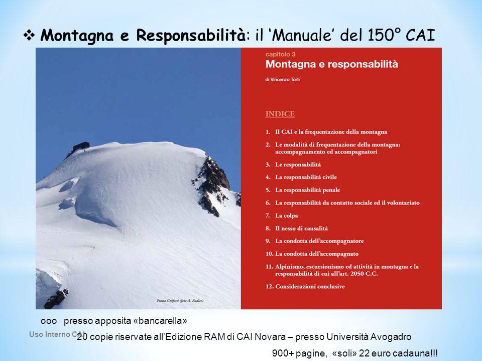 Montagna e Responsabilità: il 'Manuale' del 150° CAI