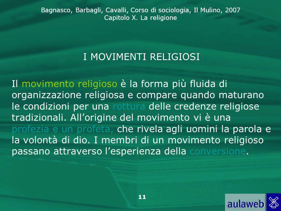 I MOVIMENTI RELIGIOSI