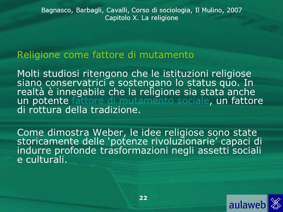 Religione come fattore di mutamento