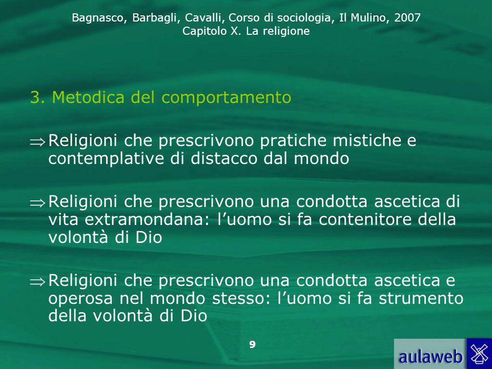 3. Metodica del comportamento