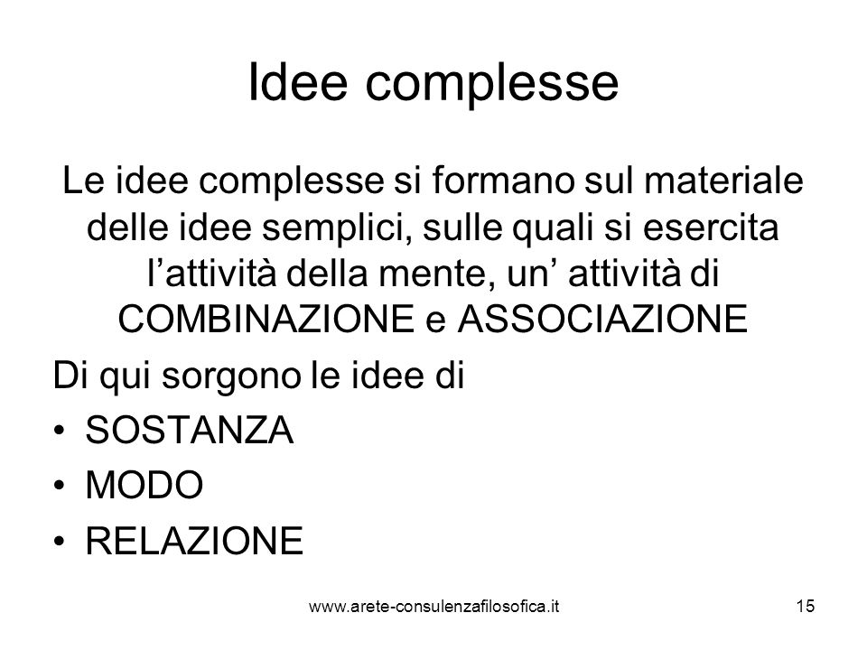 Idee complesse