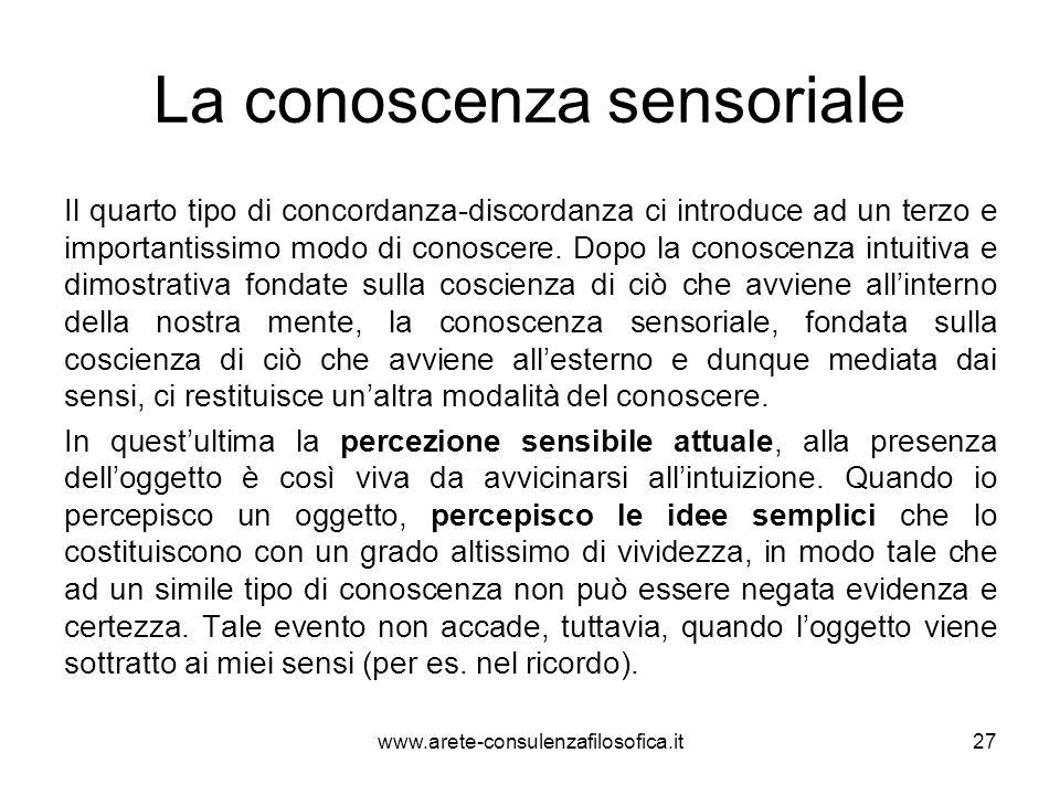 La conoscenza sensoriale