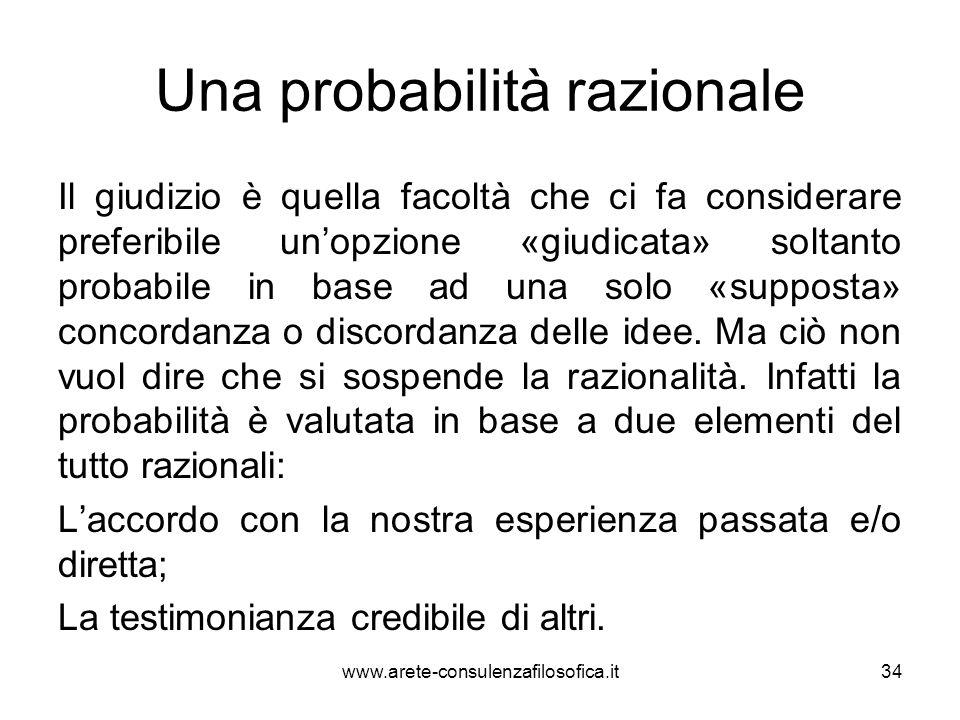 Una probabilità razionale