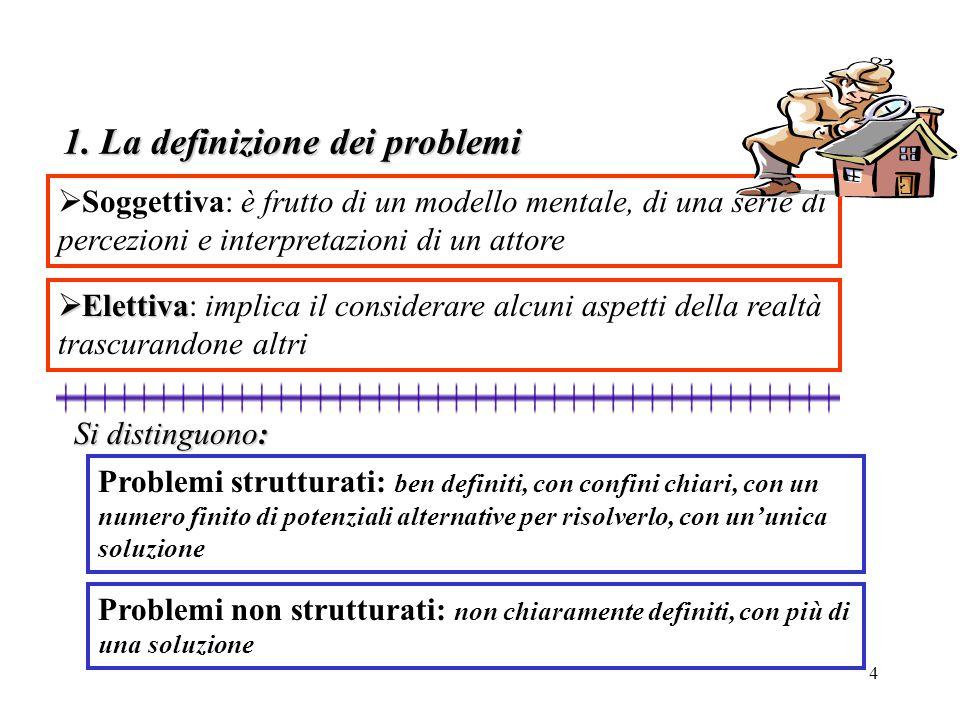 1. La definizione dei problemi