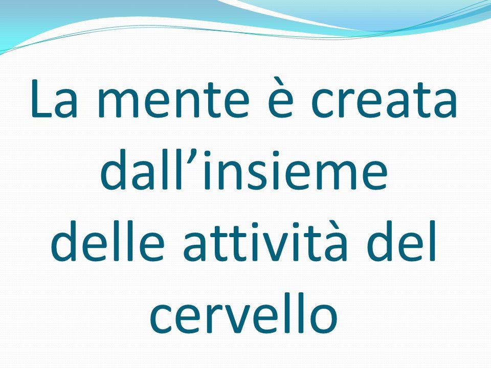 La mente è creata dall'insieme delle attività del cervello