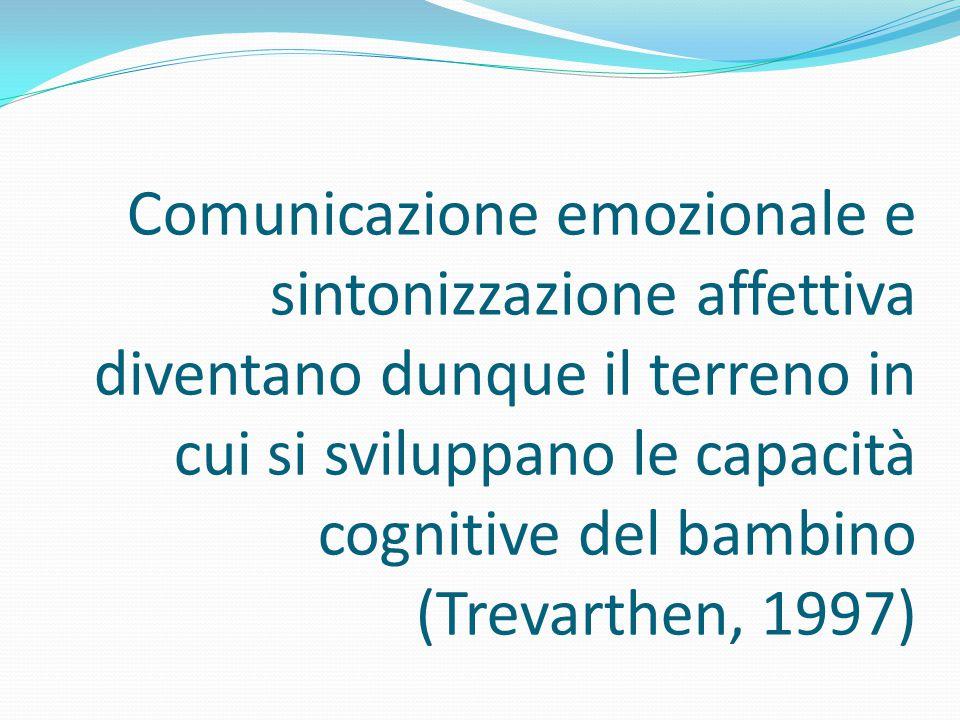 Comunicazione emozionale e sintonizzazione affettiva diventano dunque il terreno in cui si sviluppano le capacità cognitive del bambino (Trevarthen, 1997)