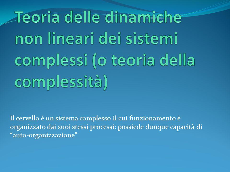 Teoria delle dinamiche non lineari dei sistemi complessi (o teoria della complessità)