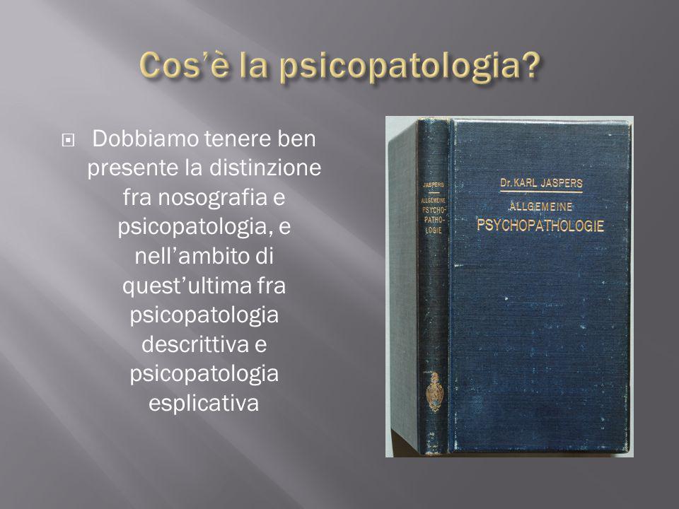 Cos'è la psicopatologia