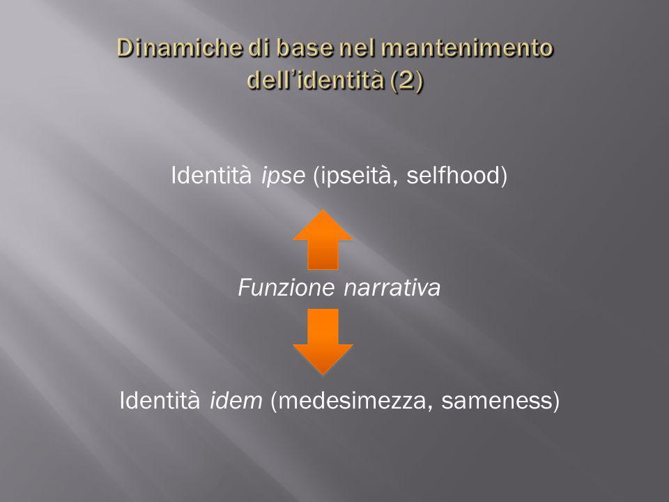 Dinamiche di base nel mantenimento dell'identità (2)