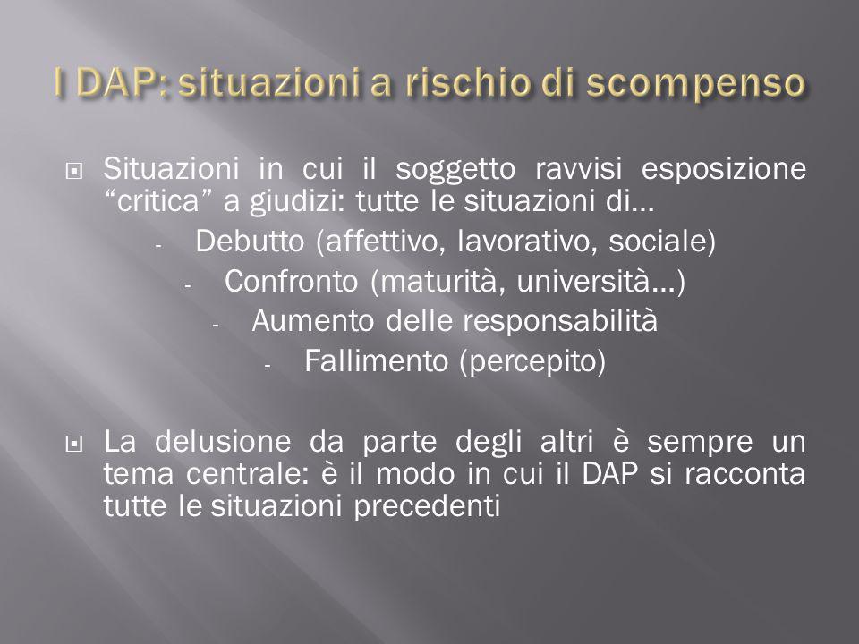 I DAP: situazioni a rischio di scompenso