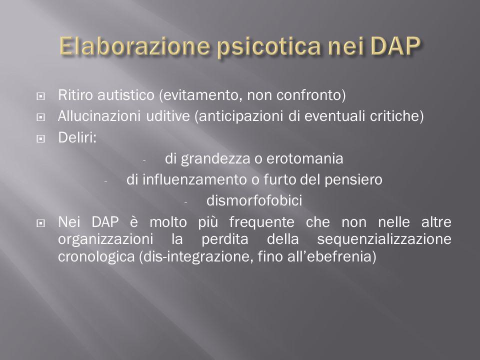 Elaborazione psicotica nei DAP