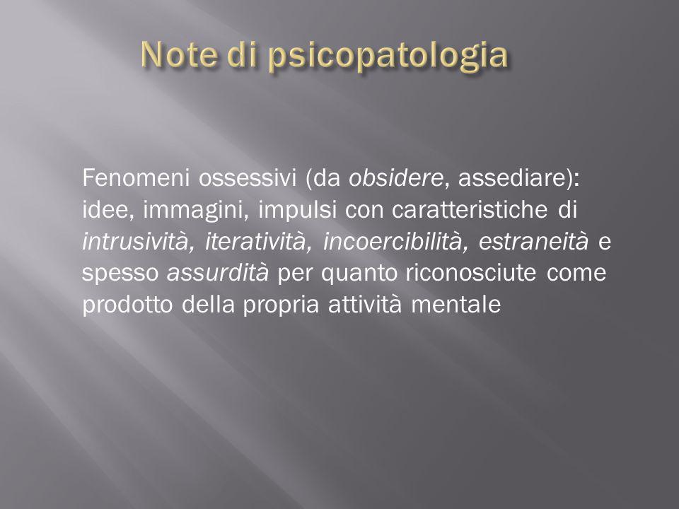 Note di psicopatologia