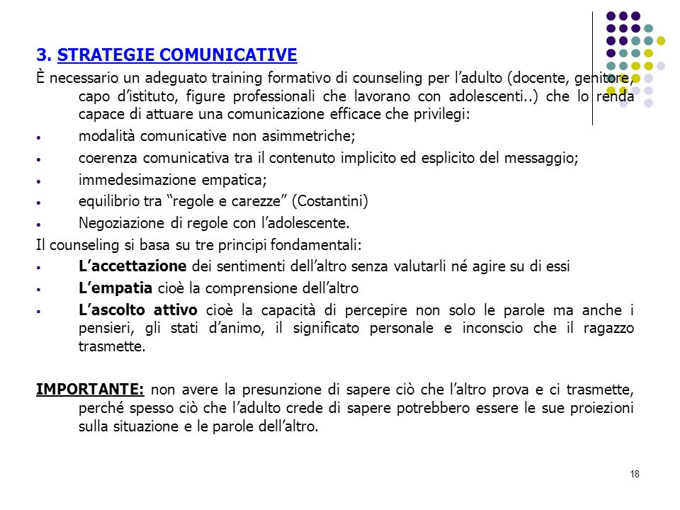 3. STRATEGIE COMUNICATIVE