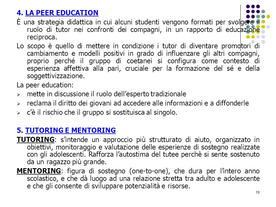 4. LA PEER EDUCATION