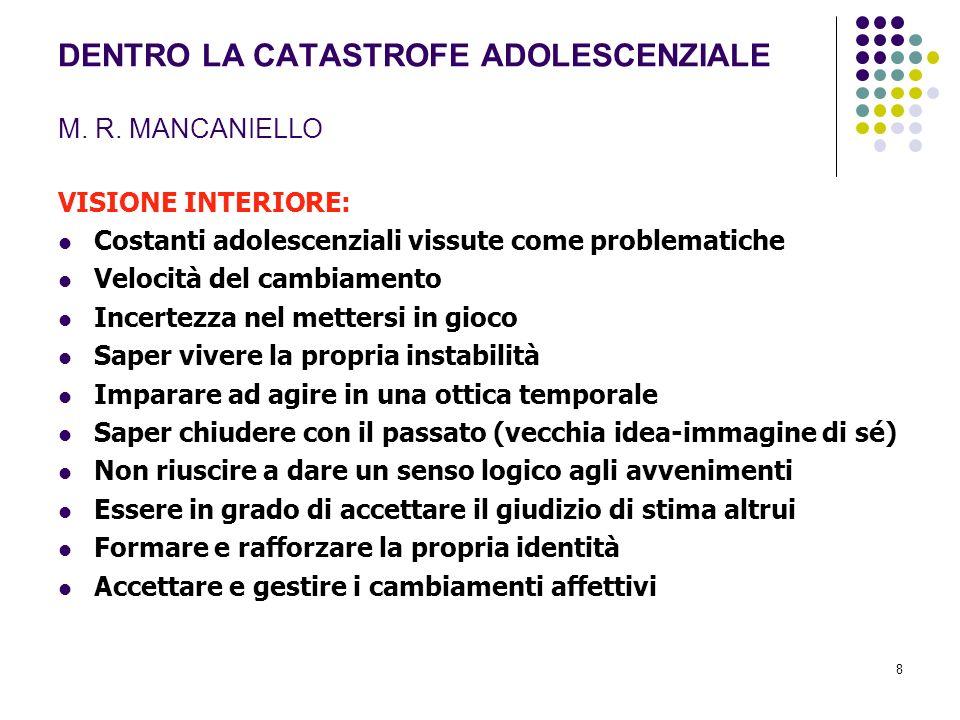 DENTRO LA CATASTROFE ADOLESCENZIALE M. R. MANCANIELLO