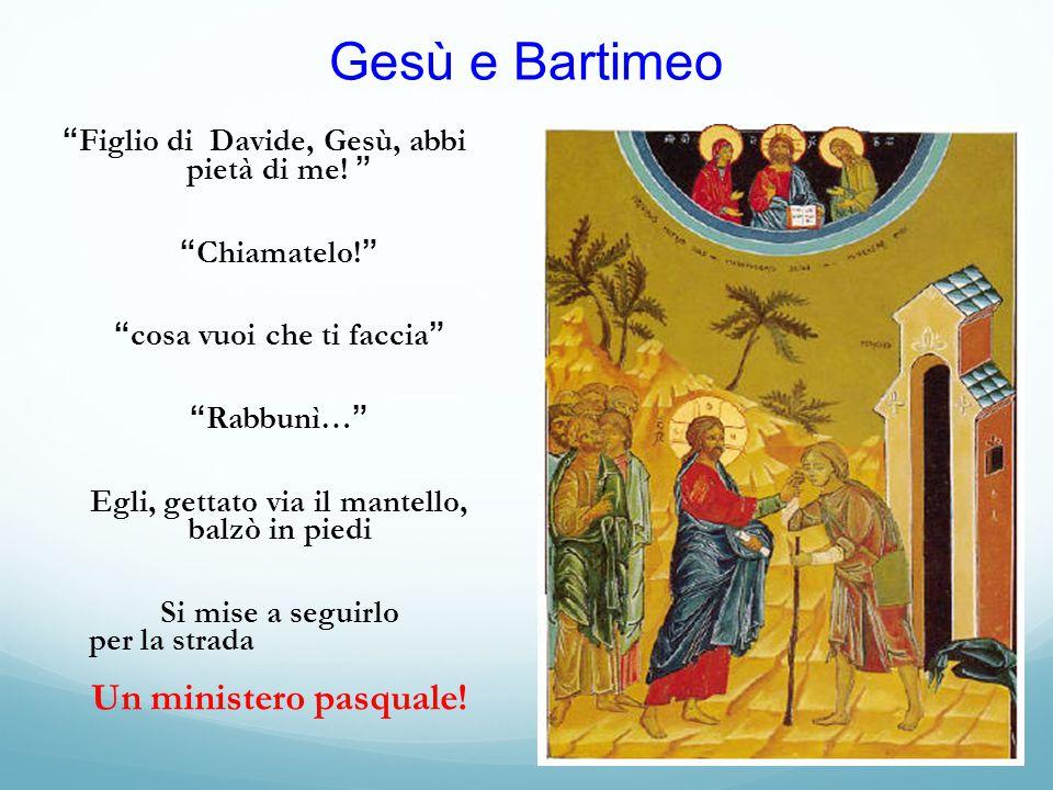 Gesù e Bartimeo Figlio di Davide, Gesù, abbi pietà di me!