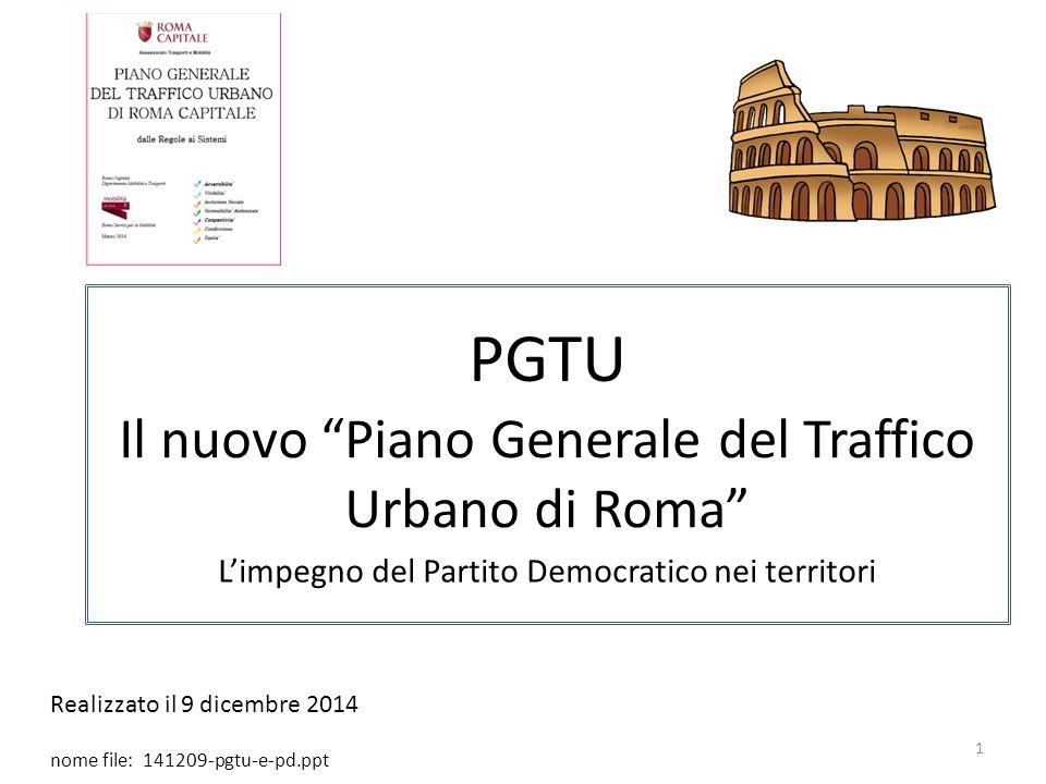 PGTU Il nuovo Piano Generale del Traffico Urbano di Roma