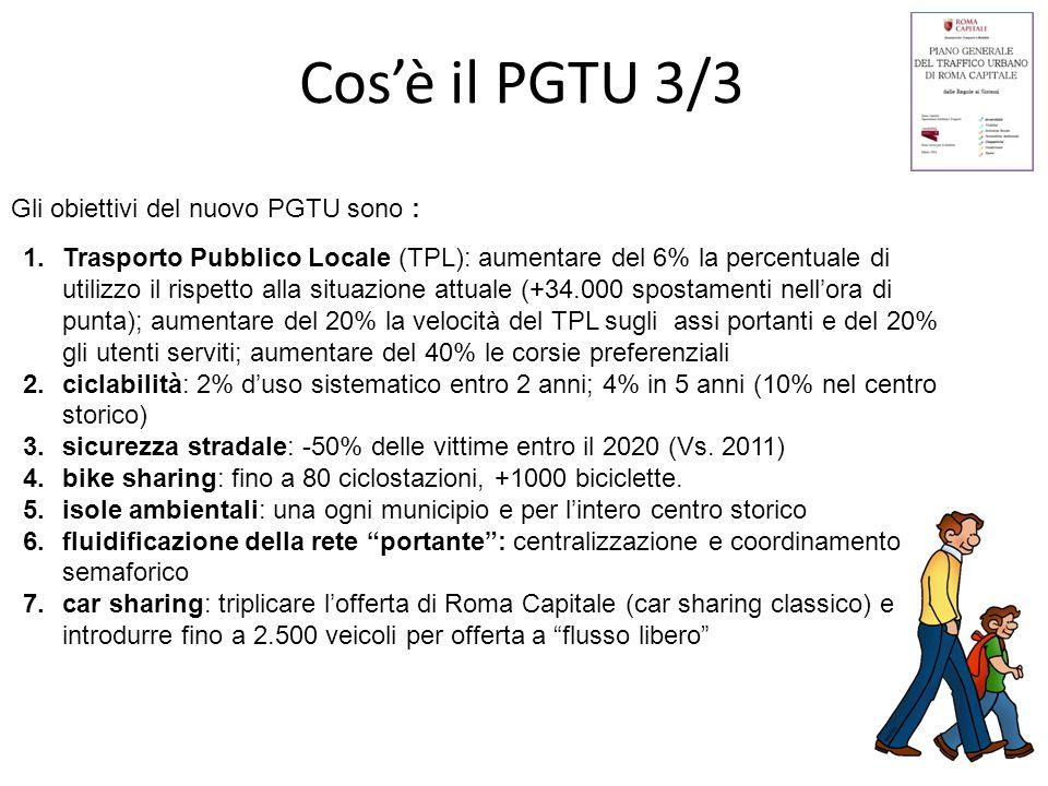 Cos'è il PGTU 3/3 Gli obiettivi del nuovo PGTU sono :