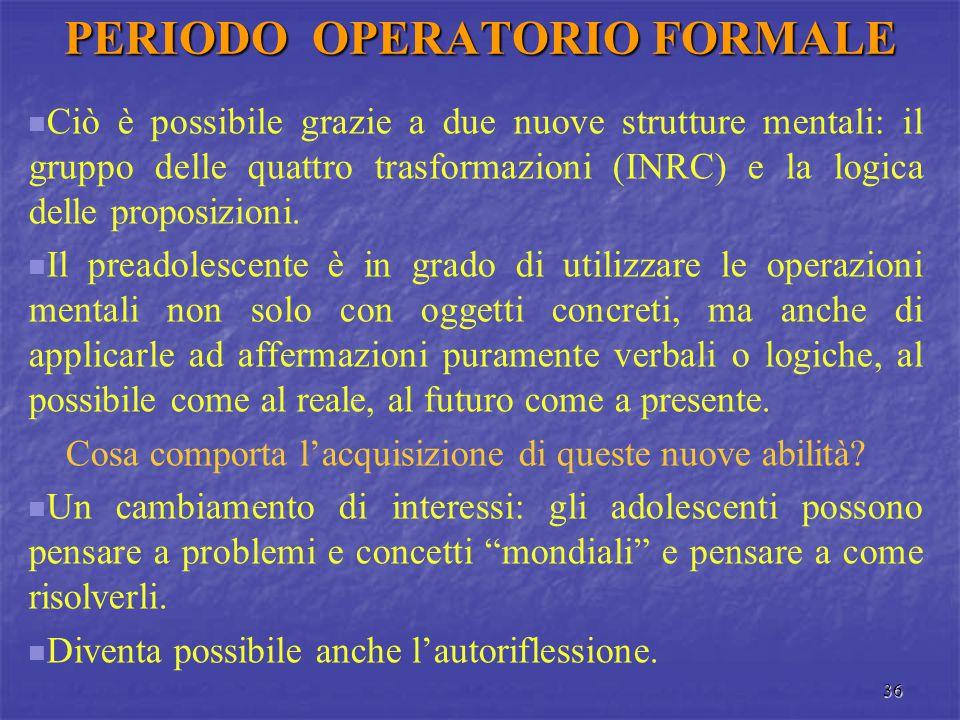 PERIODO OPERATORIO FORMALE