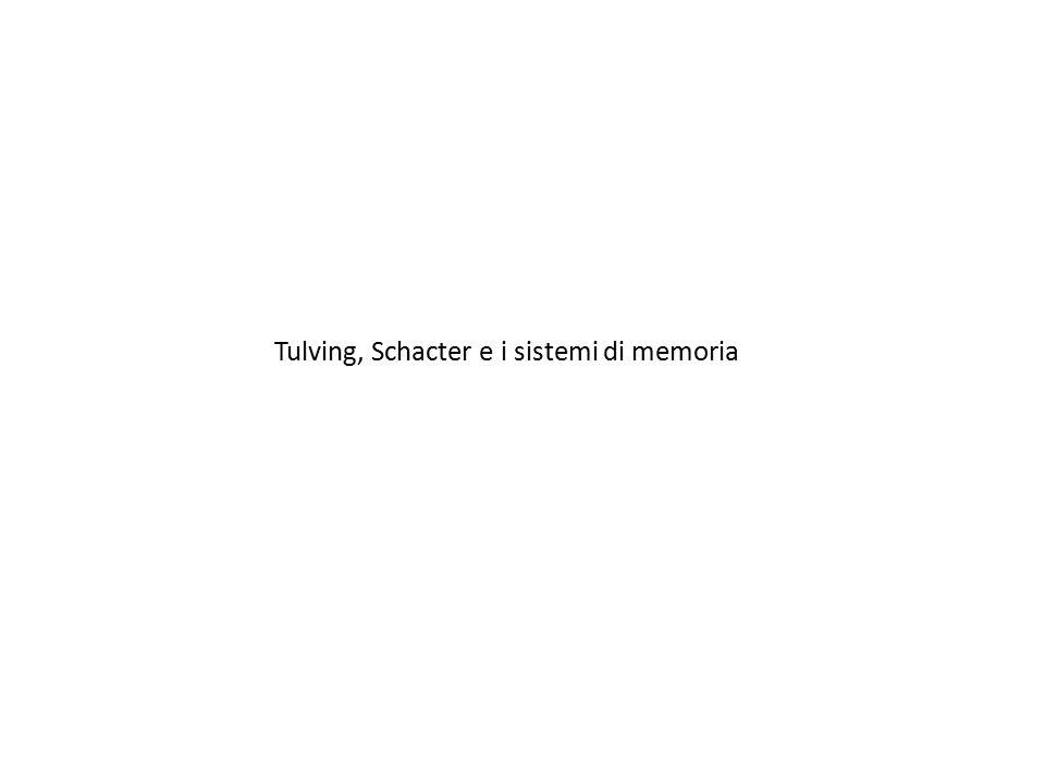 Tulving, Schacter e i sistemi di memoria